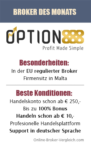 Option888 Broker des Monats