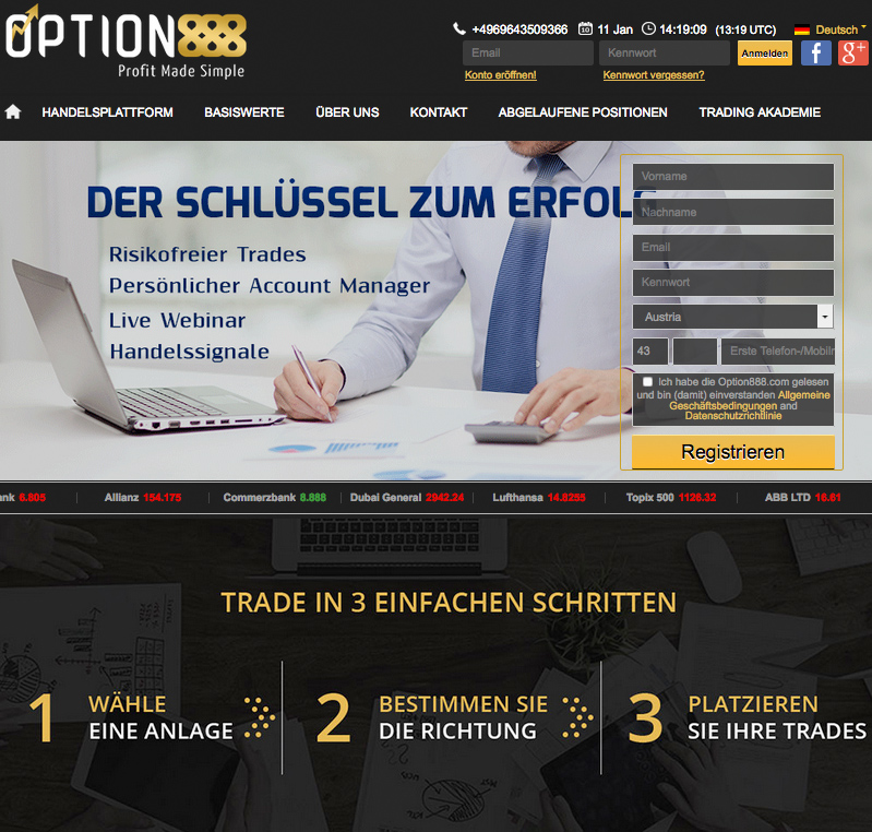 Options888 Online Broker Vergleich